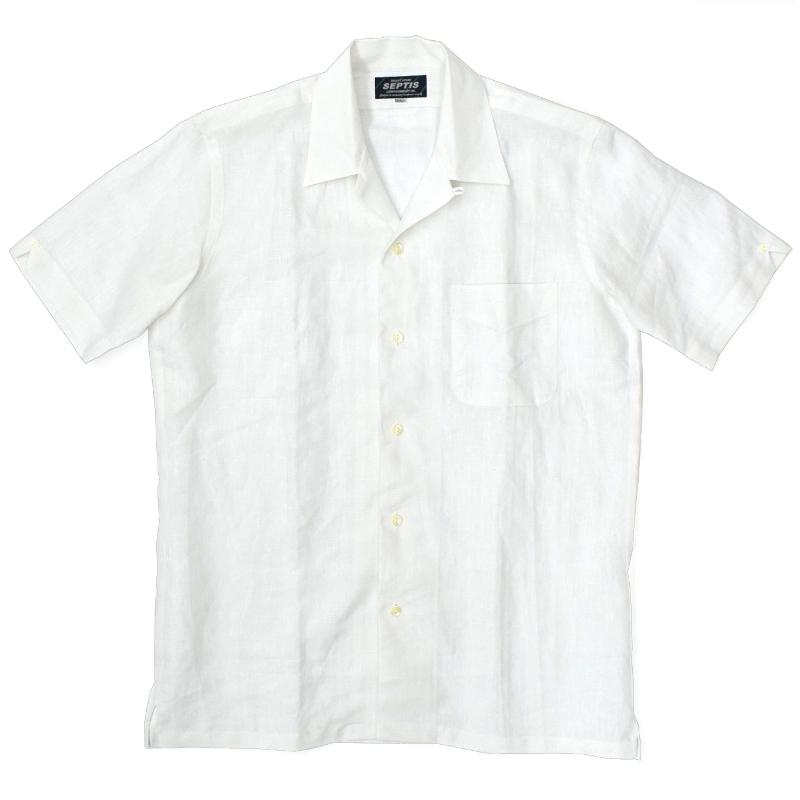 【2 COLORS】SEPTIS ORIGINAL(セプティズオリジナル) S/S ONENAP COLLARED SHIRTS(半袖ワンナップカラーシャツ/開襟シャツ) LINEN(リネン)