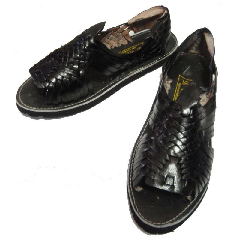 15ea9de2c26f00 septis  HUARACHE (Wallach) MEXICAN SANDAL (Mexican sandals) BLACK ...