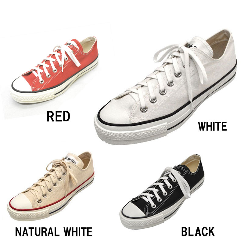 【4 COLOR】CONVERSE(コンバース) 【MADE IN JAPAN】(日本製) CANVAS ALL STAR J OX(キャンバス オールスター) ローカット