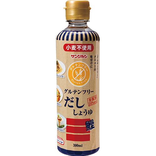 簡単便利にグルテンフリー 新発売 かつお香るたまり醤油の旨味 コレ一本で仕上がります 醤油 グルテンフリーだししょうゆ サンジルシ 39ショップ対応 送料別 激安特価品 小麦粉不使用 300ml