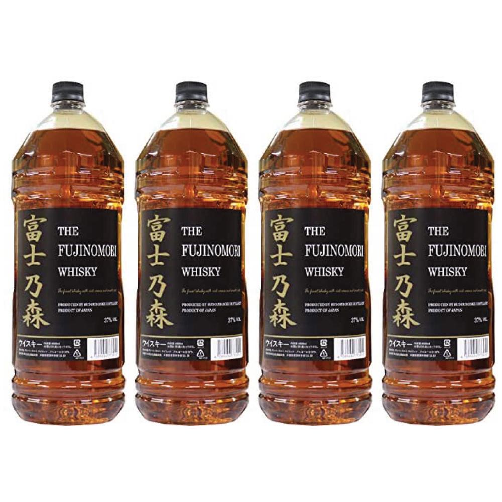 コスパ最強のウイスキー 富士乃森 金ラベル 4000ml 4本セット 37度 THE FUJINOMORI 新作入荷 WHISKY ブレンデット ウイスキー ウィスキー ザ 人気 おすすめ 日本国産 フジノモリ