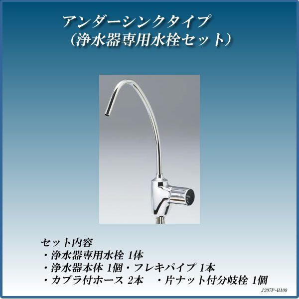 浄水器 アンダーシンクタイプ(浄水器専用水栓セット) 浄水器専用水栓109型セット J207P-B109 【送料無料(北海道 沖縄 離島を除く)】