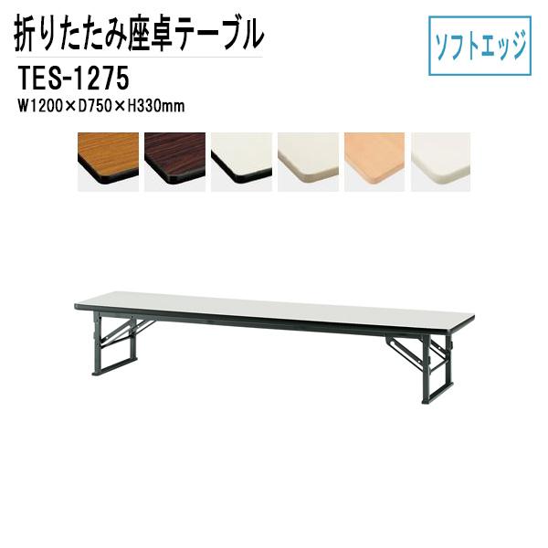 折りたたみ座卓テーブル TES-1275 (ソフトエッジ) W120XD75XH33cm 【送料無料(北海道 沖縄 離島を除く)】 会議テーブル 折りたたみ