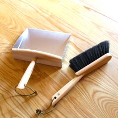 [REDECKER/レデッカー]プレミアムハースブラシセット/ちりとり ほうき セット/掃除道具/おしゃれ/かわいい/掃除/北欧道具