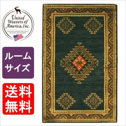 ハースラグ ララミーダークグリーン<ルームサイズ>[品番:UW52842R] ラグマット/絨毯/カーペット/薪ストーブ アクセサリー/ラグ/耐熱性 ラグ/ダッチウエスト