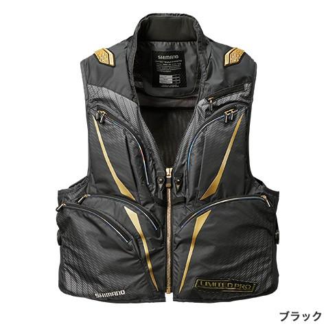 シマノ 2WAYベスト・LIMITED PRO VE-011S ブラック 2XL
