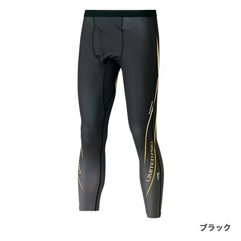 シマノ SUN PROTECTION・COOL タイツ LIMITED PRO  IN-075R ブラック  2XL