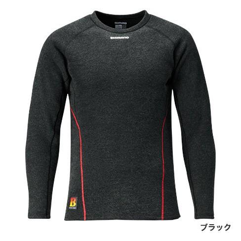 シマノ ブレスハイパー+℃ ストレッチアンダーシャツ (極厚タイプ)IN-020Q ブラックL