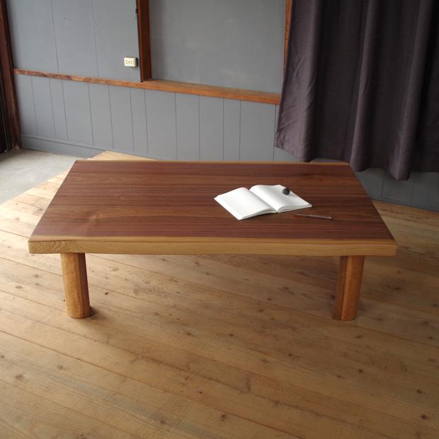 T-FLAN座卓 150×85 長方形 ウォールナット|北欧|和風|モダン|シンプル|デザイン||おしゃれ|かわいい||日本製|国産リビングテーブル||センターテーブル|ローテーブル|座卓|折脚|折足||耳付き|皮付き|一枚板風|