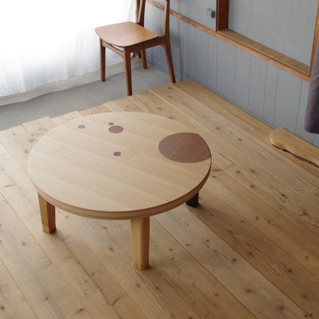 とってもおとくな撮影品 限定1台syabon-damaこたつ 90×90 円形 タモ & 木象嵌|北欧|和風|モダン|シンプル|デザイン||おしゃれ|かわいい||日本製|座卓|ちゃぶ台|ローテーブル||国産座卓|国産円卓|センターテーブル|