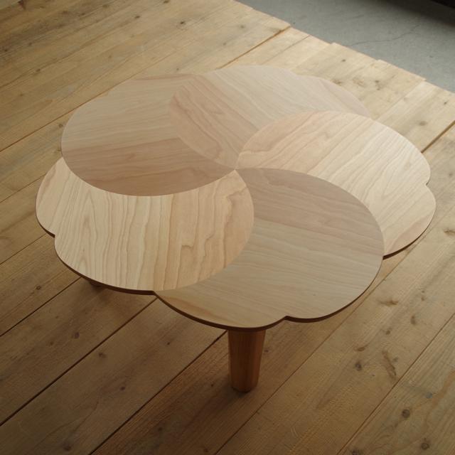 N-ririsこたつ 90×90 円形 樺桜突板 ナチュラル色|北欧|和風|モダン|シンプル|デザイン||おしゃれ|かわいい||日本製|こたつ|コタツ|座卓||国産こたつ|国産コタツ|センターテーブル||リビングテーブル|こたつテーブル|