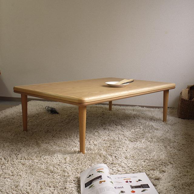 bargこたつ 120×80 長方形 ナラ突板|北欧|モダン|シンプル|デザイン||おしゃれ|かわいい||日本製|こたつ|コタツ|座卓||国産こたつ|国産コタツ|こたつテーブル||リビングテーブル|リビングこたつ|リビングコタツ||ローテーブル|