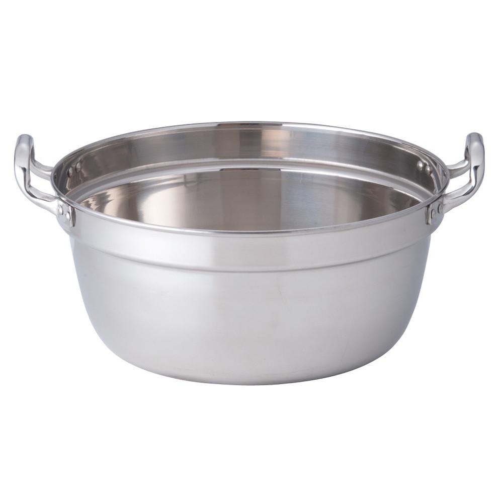 SW 18-8円付鍋 両手 33cm [ 外径:340mm 深さ:155mm 7.8L ] [ 料理道具 ] | 厨房 食堂 和食 ホテル 飲食店 業務用