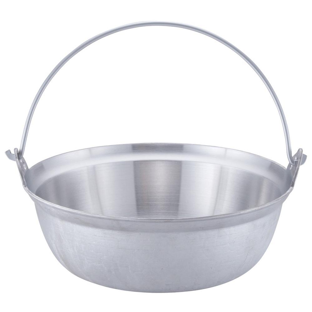 アルミイモノ 吊付円付鍋 42cm [ 外径:428mm 深さ:153mm 12.5L ] [ 料理道具 ] | 厨房 食堂 和食 ホテル 飲食店 業務用