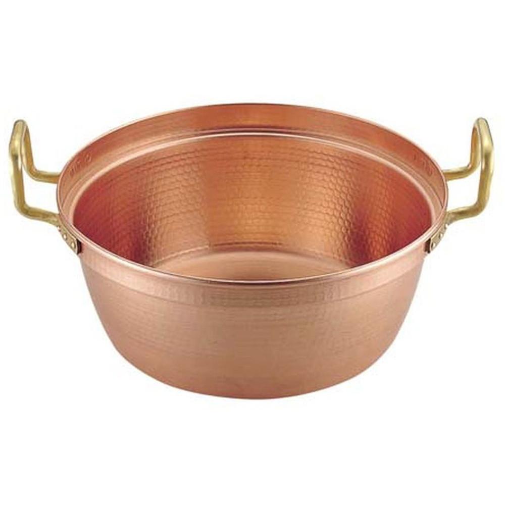 銅 円付鍋 両手(錫引きなし) 39cm [ 外径:400mm 深さ:165mm 11.5L ] [ 料理道具 ] | 厨房 食堂 和食 ホテル 飲食店 業務用