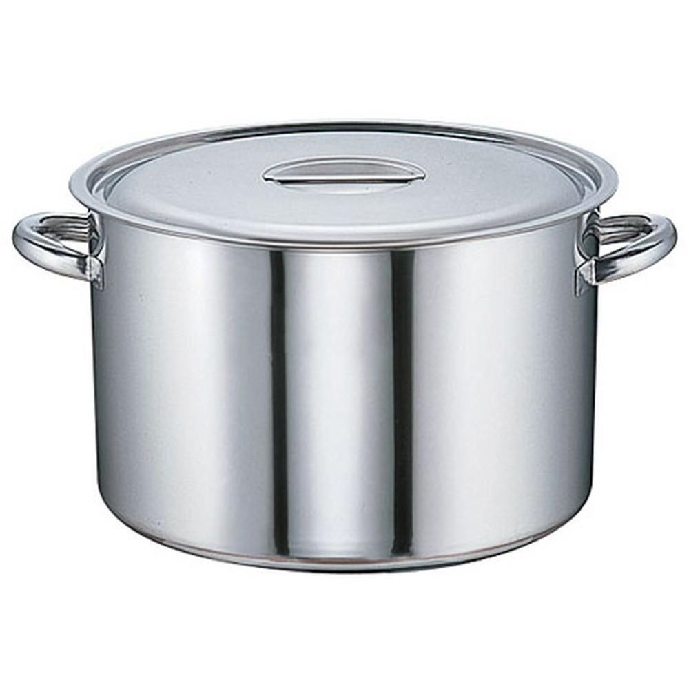 モリブデン 半寸胴鍋(目盛付) 39cm [ 内径:39cm 外径:406mm 深さ:250mm 30L ] [ 料理道具 ] | 厨房 キッチン 飲食店 ホテル レストラン 業務用