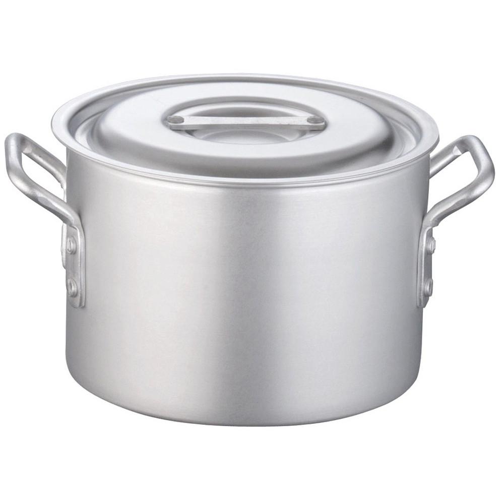 TKG 半寸胴鍋 アルミニウム 目盛付(アルマイト加工) 21cm [ 外径:227mm 深さ:150mm 5.1L ] [ 料理道具 ] | 厨房 キッチン 飲食店 ホテル レストラン 業務用