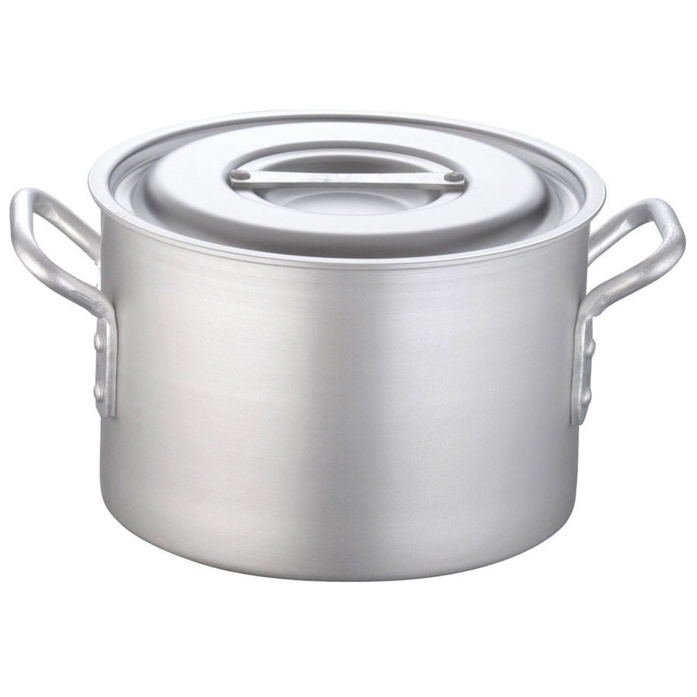 TKG 半寸胴鍋 アルミニウム 目盛付(アルマイト加工) 24cm [ 外径:258mm 深さ:170mm 7.5L ] [ 料理道具 ] | 厨房 キッチン 飲食店 ホテル レストラン 業務用