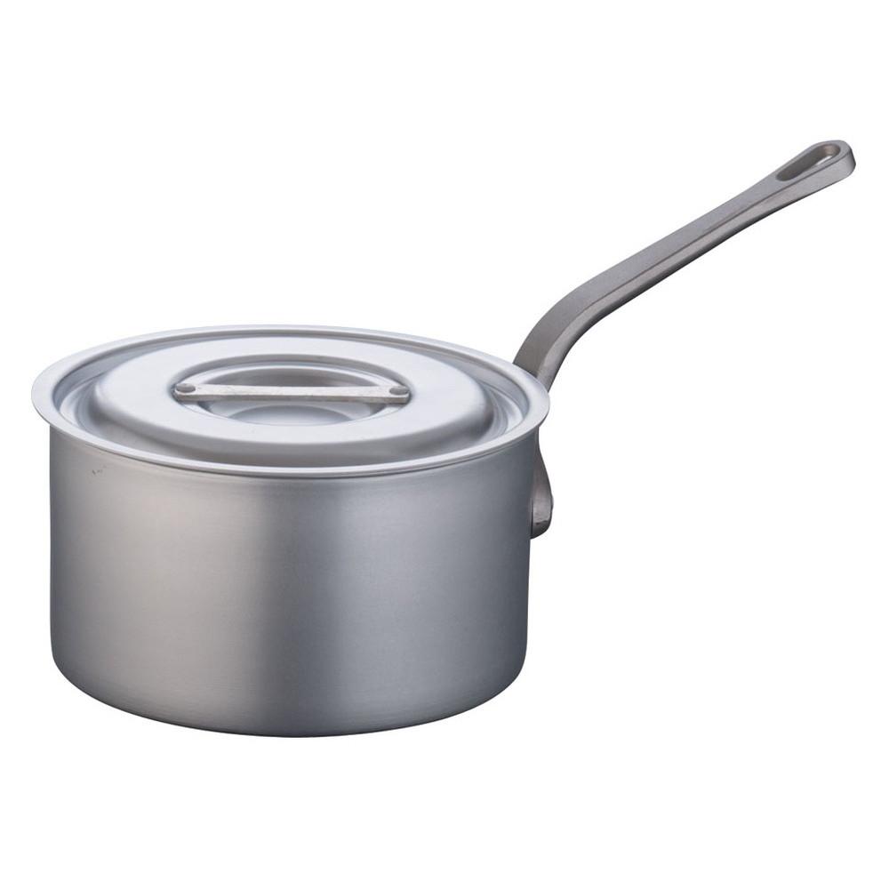 TKG アルミニウム片手深型鍋 目盛付(アルマイト加工) 24cm [ 外径:256mm 深さ:140mm 6.2L ] [ 料理道具 ] | 厨房 キッチン 飲食店 ホテル レストラン 業務用