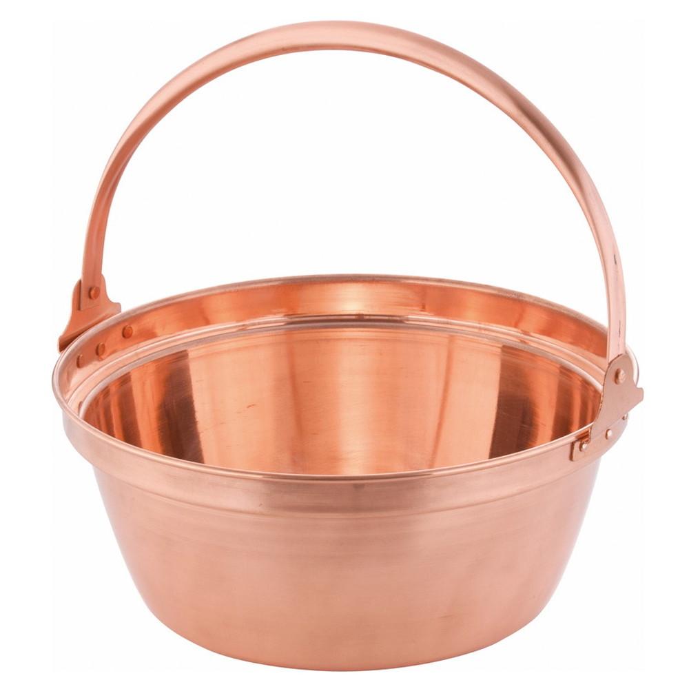 銅 山菜鍋(内側錫引きなし) 33cm [ 外径:340mm 深さ:140mm 6.6L ] [ 料理道具 ]   厨房 食堂 和食 ホテル 飲食店 業務用