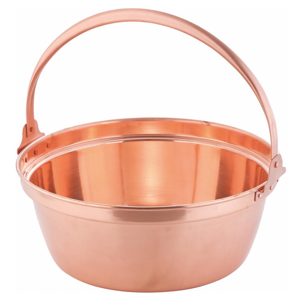 銅 山菜鍋(内側錫引きなし) 36cm [ 外径:374mm 深さ:150mm 8.4L ] [ 料理道具 ] | 厨房 食堂 和食 ホテル 飲食店 業務用