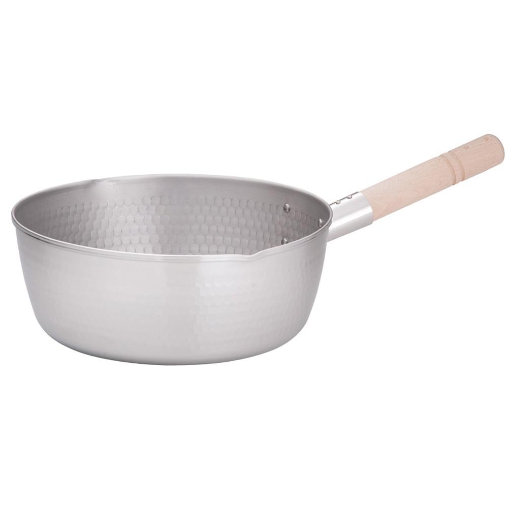 21-0打出雪平鍋(両口) 27cm [ 内径:270 x 深さ:110mm 5.2L ] [ 料理道具 ] | 厨房 食堂 和食 ホテル キッチン 飲食店 業務用
