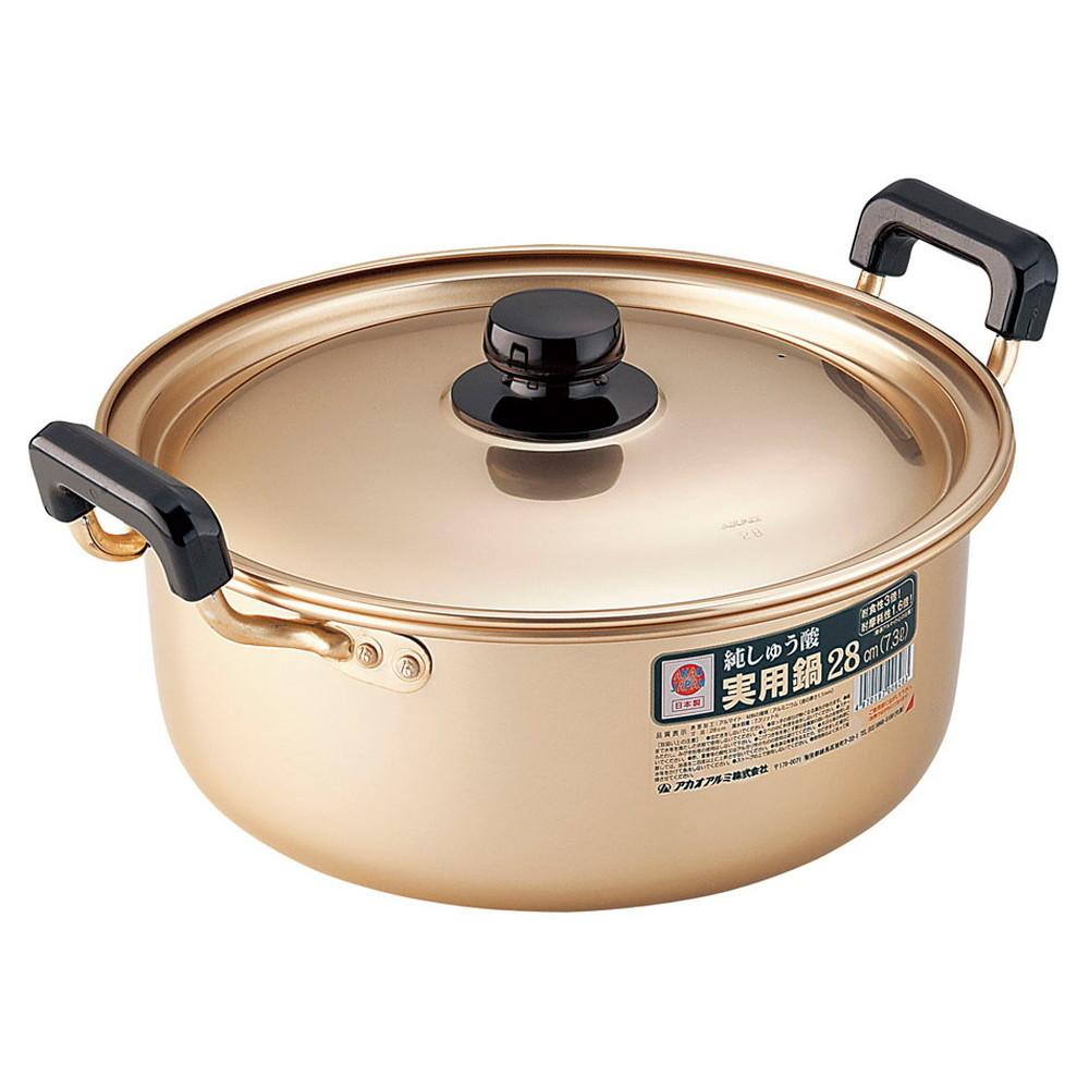 アカオ しゅう酸実用鍋 28cm [ 外径:312mm 深さ:125mm 7.3L ] [ 料理道具 ] | 厨房 食堂 和食 ホテル 飲食店 業務用