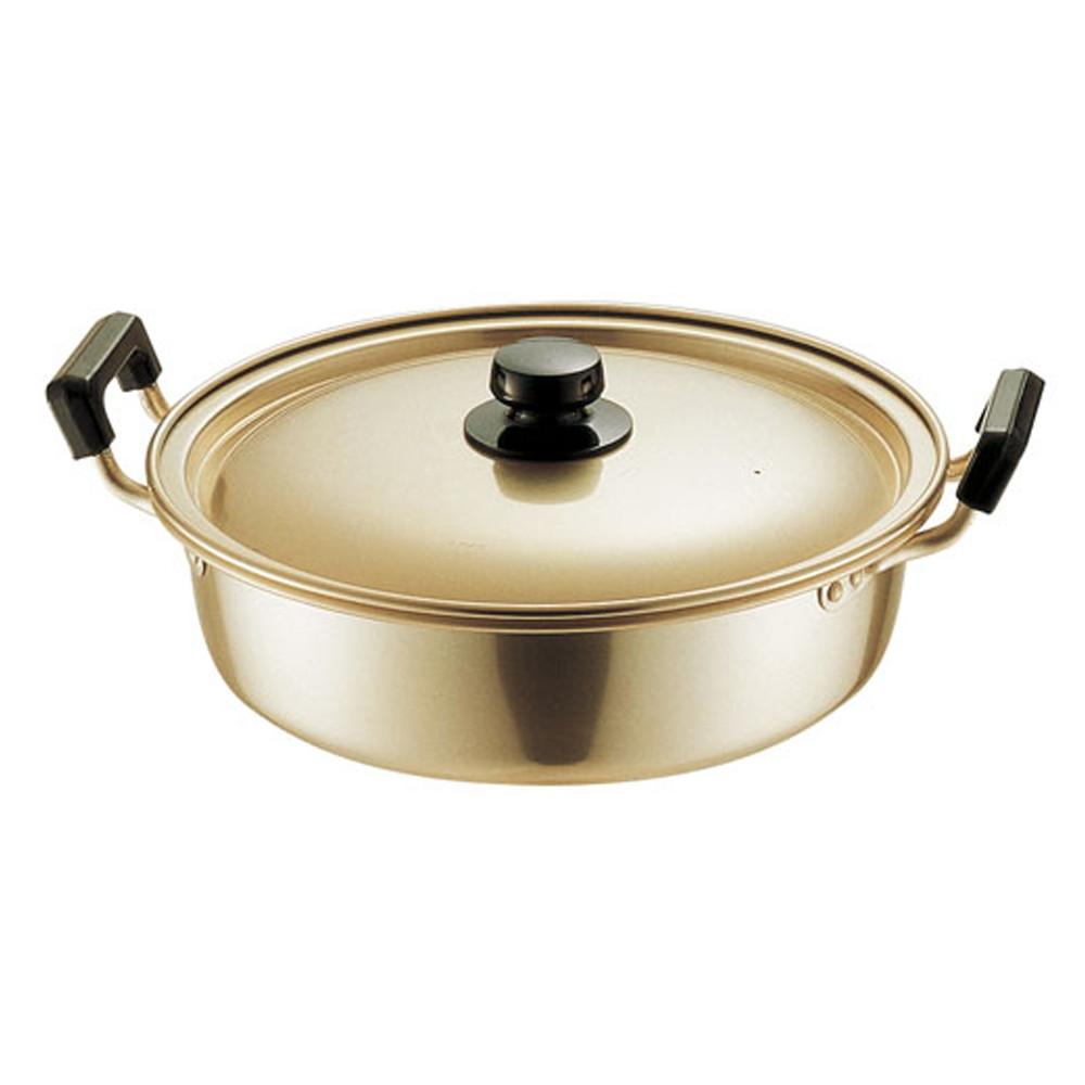 アカオ しゅう酸実用鍋 浅型 28cm [ 外径:313mm 深さ:80mm 4.7L ] [ 料理道具 ] | 厨房 食堂 和食 ホテル 飲食店 業務用