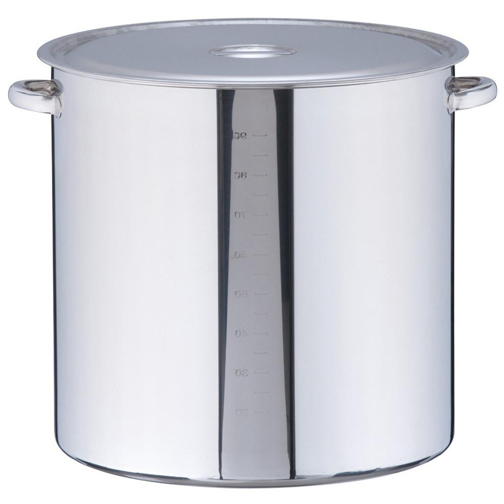 18-8 寸胴鍋(目盛付) 51cm [ 内径:51cm 外径:532mm 深さ:510mm 102L ] [ 料理道具 ]   厨房 キッチン 飲食店 ホテル レストラン 業務用