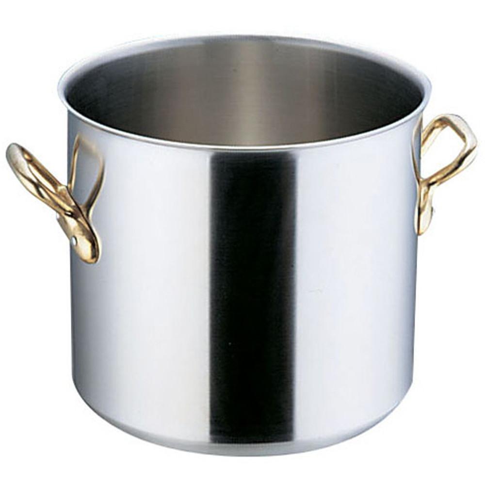 スーパーデンジ 寸胴鍋(蓋無) 36cm [ 外径:375mm 深さ:350mm 底径:320mm 34L ] [ 料理道具 ] | 厨房 キッチン 飲食店 ホテル レストラン 業務用