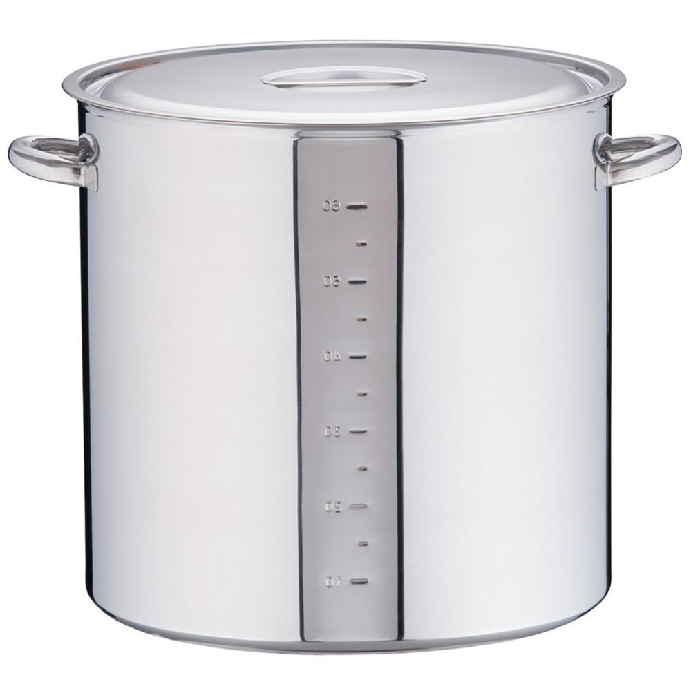 電磁モリブデン寸胴鍋 目盛付 45cm [ 内径:45cm 外径:470mm 深さ:450mm 68L ] [ 料理道具 ] | 厨房 キッチン 飲食店 ホテル レストラン 業務用