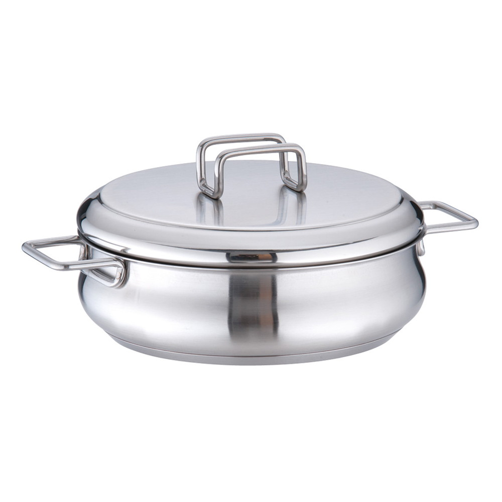 バラゾーニ18-10タミー キャセロール(蓋付) 18cm [ 内径:180mm深さ:58mm1.25L ] [ 料理道具 ] | 厨房 飲食店 レストラン ホテル 業務用