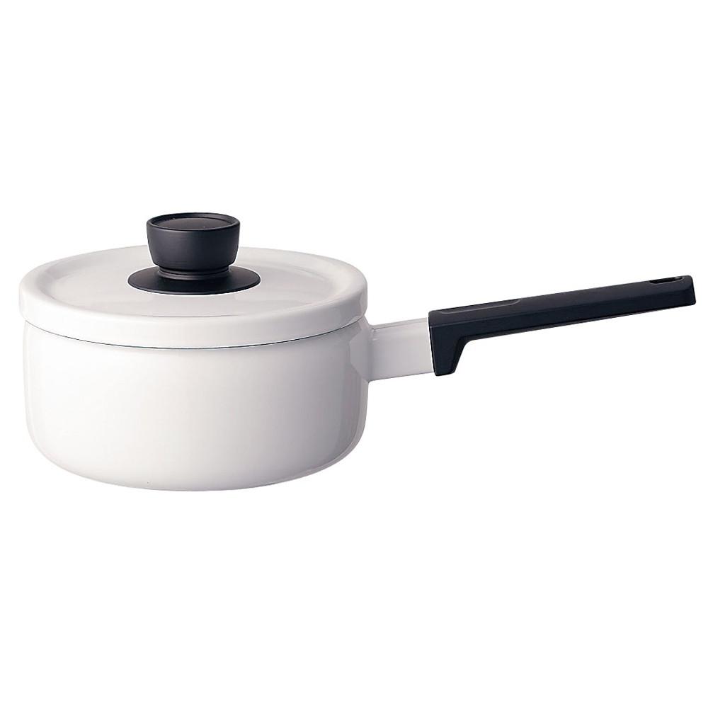 ソリッド ソースパン 18cm SD-18S・W 白 [ 内径:180mm深さ:91mm底径:150mm2.2L ] [ 料理道具 ] | キッチン 台所 料理 おしゃれ かわいい 自宅用 贈り物
