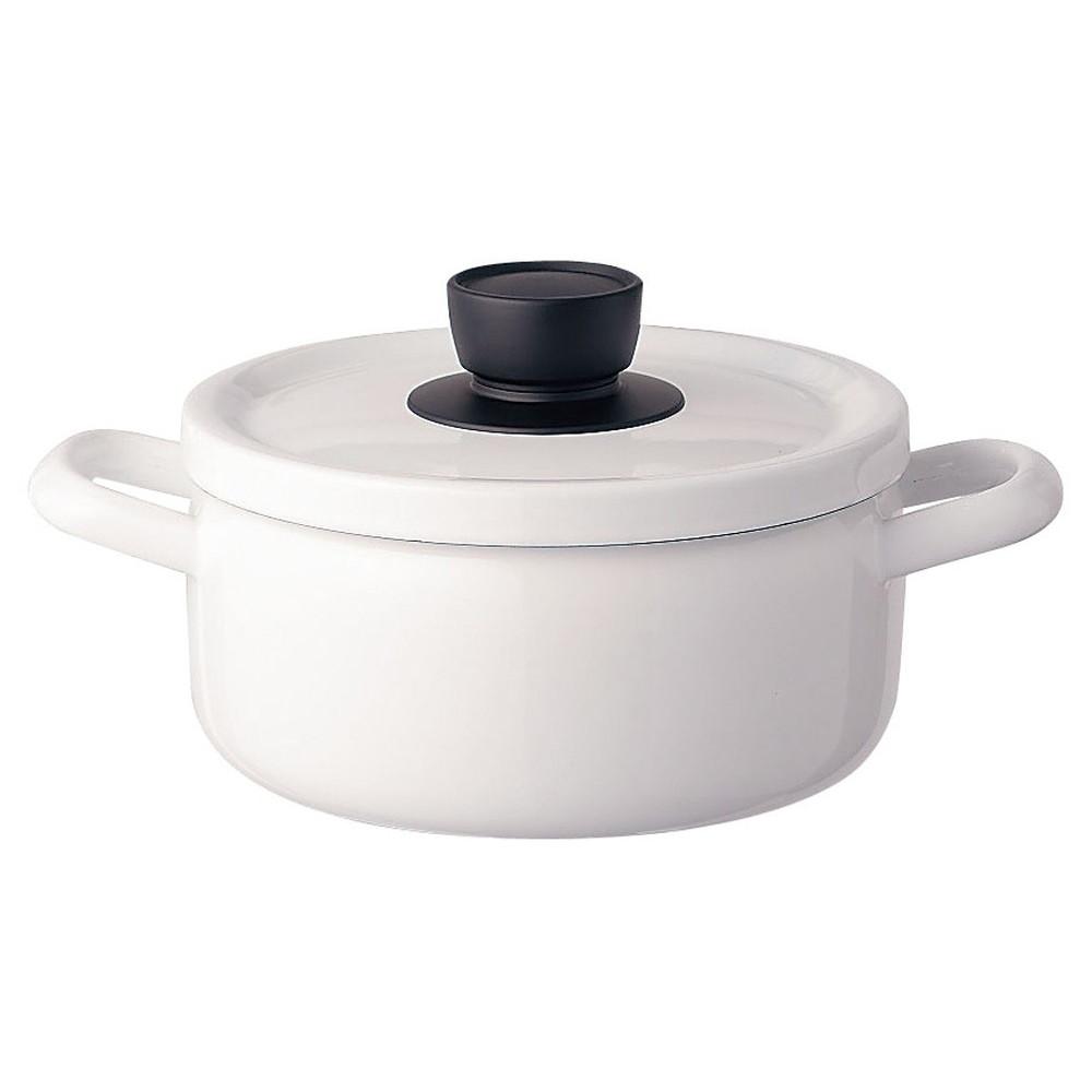 ソリッド キャセロール 20cm SD-20W・W 白 [ 内径:200mm深さ:101mm底径:170mm3L ] [ 料理道具 ] | キッチン 台所 料理 おしゃれ かわいい 自宅用 贈り物