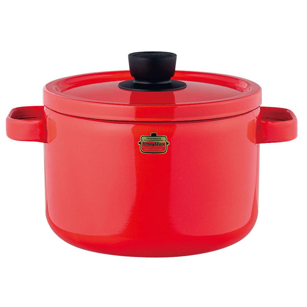 ソリッド ディープキャセロール 22cm SD-22DW・R 赤 [ 内径:220mm深さ:154mm底径:175mm5.6L ] [ 料理道具 ] | キッチン 台所 料理 おしゃれ かわいい 自宅用 贈り物