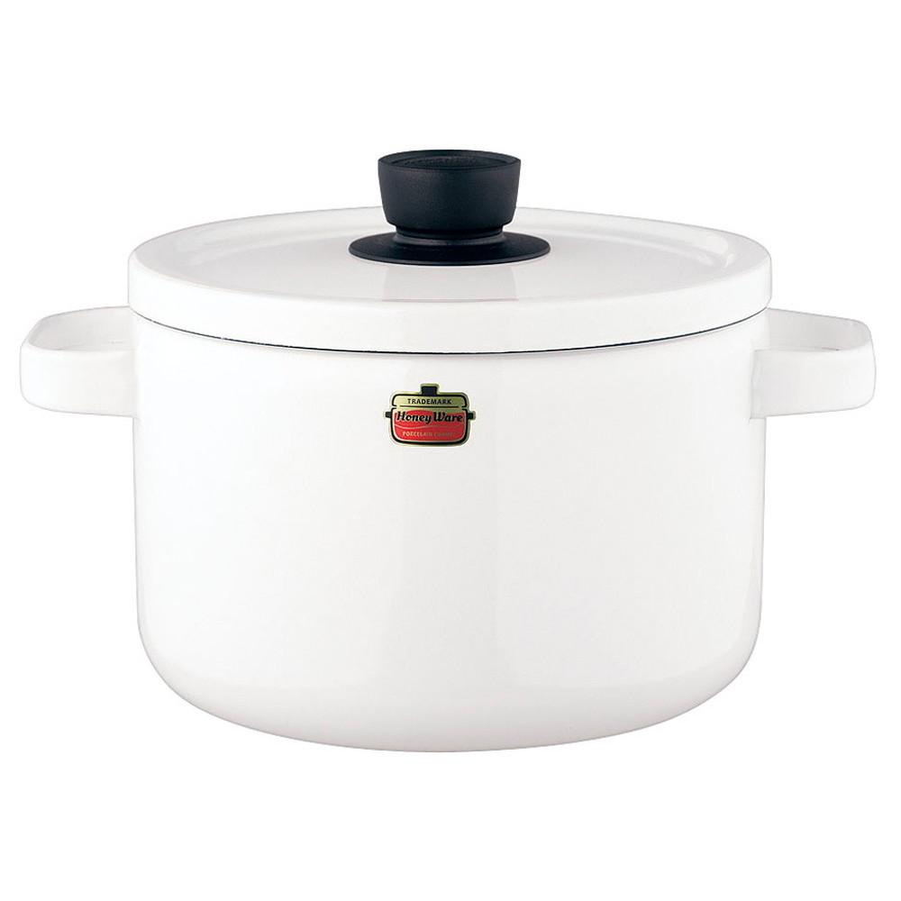 ソリッド ディープキャセロール 22cm SD-22DW・W 白 [ 内径:220mm深さ:154mm底径:175mm5.6L ] [ 料理道具 ] | キッチン 台所 料理 おしゃれ かわいい 自宅用 贈り物
