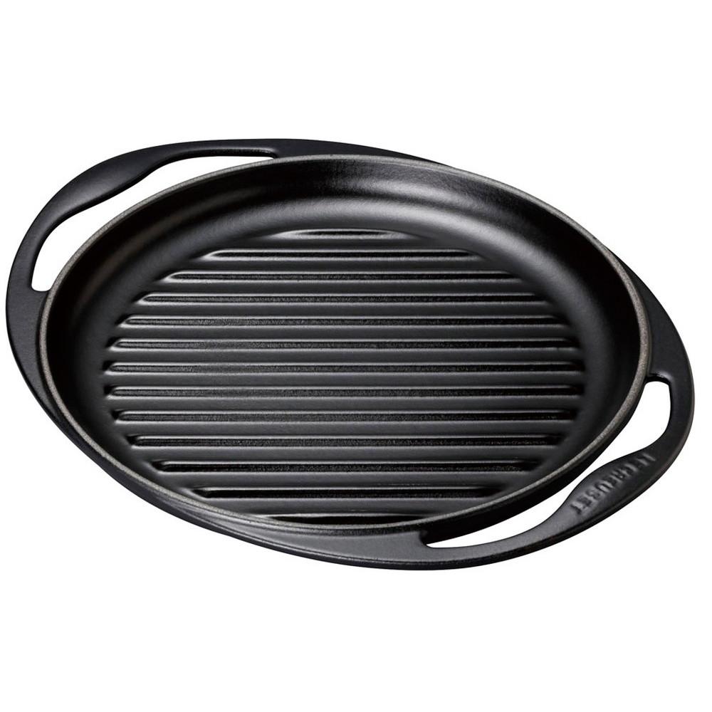 厨房でも耐えうる確かな製品には、強固さと使い勝手を兼ね備えた逸品です。キッチン 台所 飲食店 おしゃれ かわいい 自宅用 贈り物 ル・クルーゼ グリル・ロンド 25cm 20125-00 マットブラック [ 深さ:20mm2.4kg 底径:215mm ] [ 料理道具 ] | キッチン 台所 飲食店 おしゃれ かわいい 自宅用 贈り物