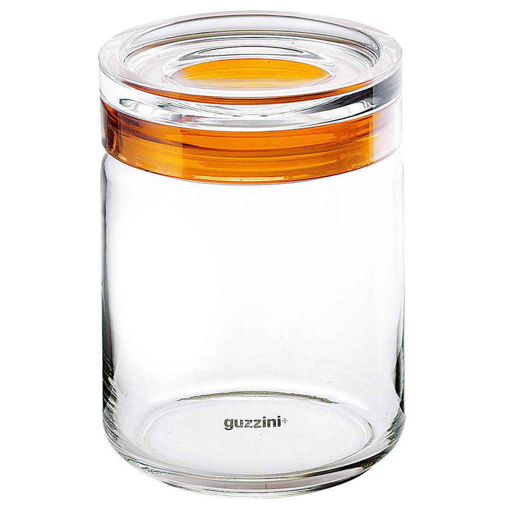 グッチーニ ガラスジャー 2855 1245 750cc オレンジ [ 外径:120 x H105mm750cc ] [ 料理道具 ] | キッチン 台所 飲食店 おしゃれ 自宅用 贈り物
