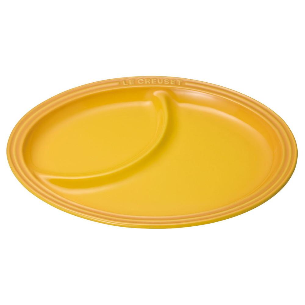 厨房でも耐えうる確かな製品には、強固さと使い勝手を兼ね備えた逸品です。キッチン 台所 飲食店 おしゃれ かわいい 自宅用 贈り物 ル・クルーゼ マルチ・オーバル・プレート 910343-21 ディジョンイエロー [ 内径:225 x 300 x H30mm ] [ 楕円皿 ] | キッチン 台所 飲食店 おしゃれ かわいい 自宅用 贈り物