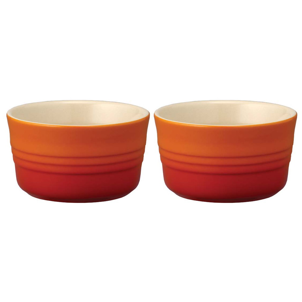 ル・クルーゼ ラムカンL(2個入) 910028-00 オレンジ [ Φ95 x H55mm220cc ] [ 料理道具 ] | キッチン 台所 飲食店 おしゃれ かわいい 自宅用 贈り物