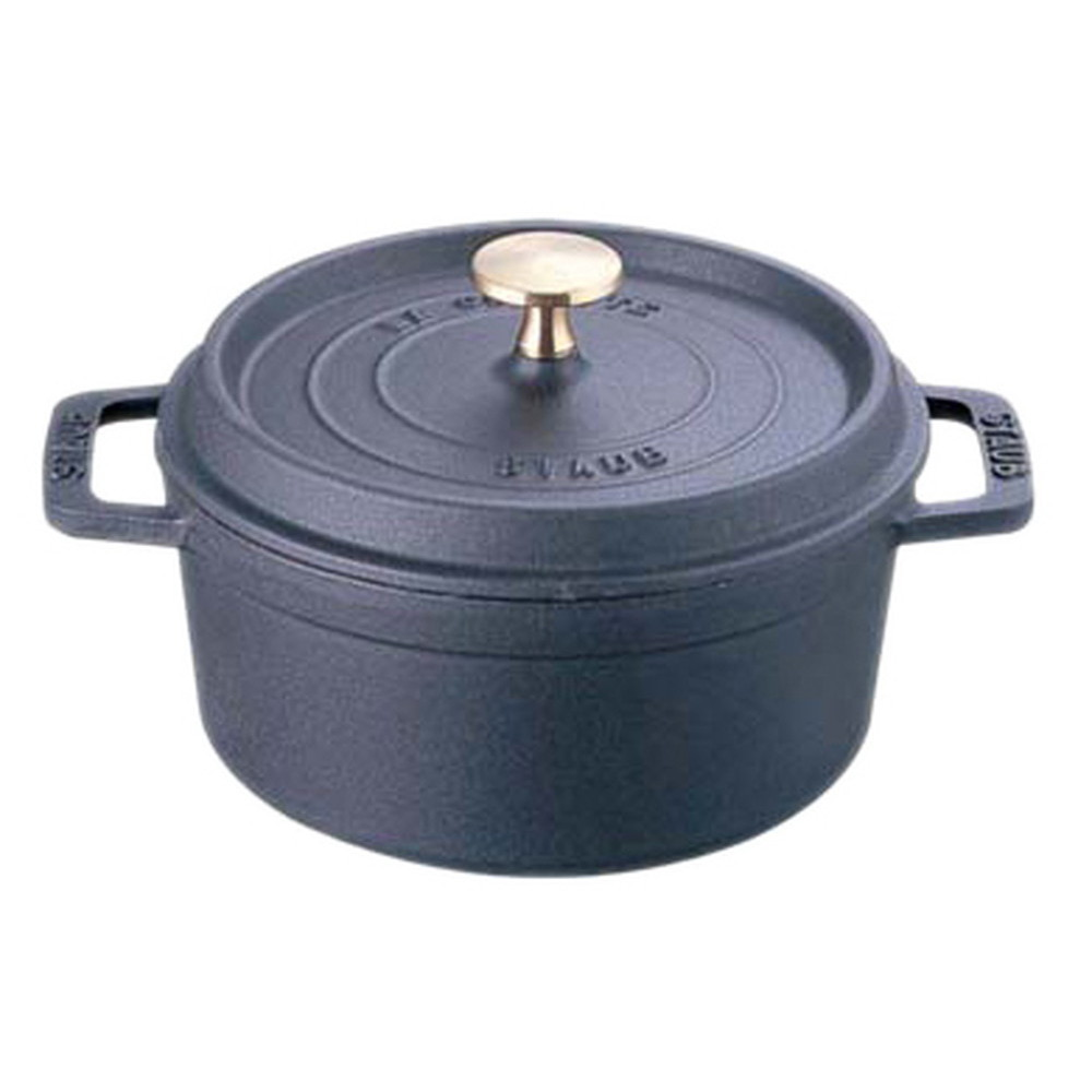 厨房でも耐えうる確かな製品には、強固さと使い勝手を兼ね備えた逸品です。キッチン 台所 飲食店 おしゃれ 自宅用 ストウブ ピコ・ココット ラウンド 22cm ブラック [ 内径:210mm深さ:95mm底径:155mm2900cc ] [ 料理道具 ] | キッチン 台所 飲食店 おしゃれ 自宅用