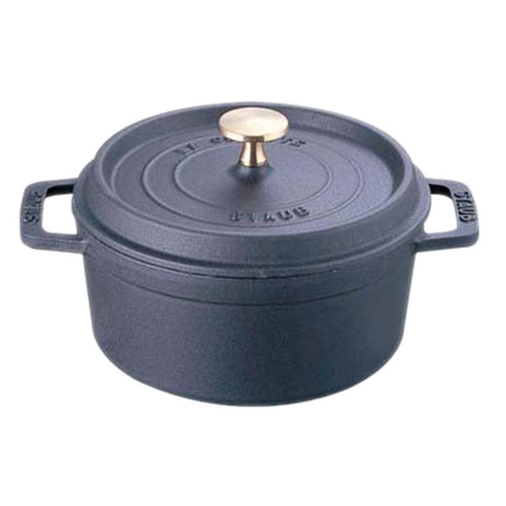 厨房でも耐えうる確かな製品には、強固さと使い勝手を兼ね備えた逸品です。キッチン 台所 飲食店 おしゃれ 自宅用 ストウブ ピコ・ココット ラウンド 24cm ブラック [ 内径:220mm深さ:105mm底径:175mm3700cc ] [ 料理道具 ]   キッチン 台所 飲食店 おしゃれ 自宅用