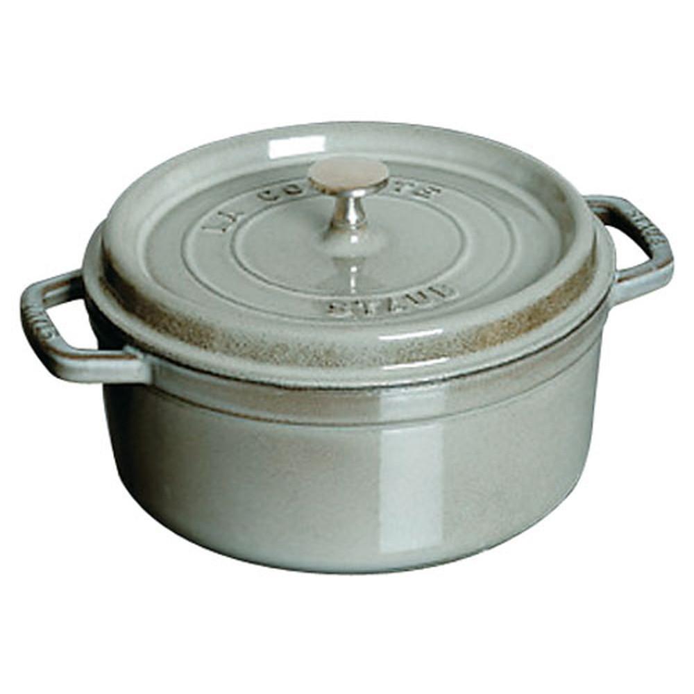 厨房でも耐えうる確かな製品には、強固さと使い勝手を兼ね備えた逸品です。キッチン 台所 飲食店 おしゃれ 自宅用 ストウブ ピコ・ココット ラウンド 16cmグレー [ 内径:150mm深さ:85mm底径:125mm1500cc ] [ 料理道具 ]   キッチン 台所 飲食店 おしゃれ 自宅用