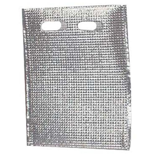 保冷・保温袋 アルバック平袋(持ち手付) (50枚入) Lサイズ [ 幅:375mm H295mm ] [ 保冷保温用品 ] | 飲食店 キャンプ レジャー イベント 業務用