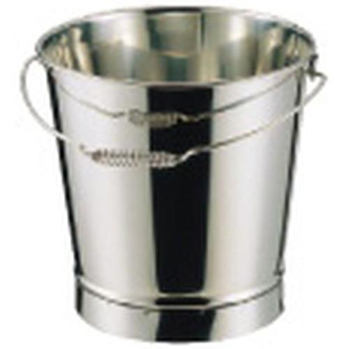 SA18-8溶接バケツ 20L [ 内径:310 x 深さ:340mm 20L ] [ 給食道具 ] | 給食 社食 配膳 飲食店 厨房 レストラン 業務用