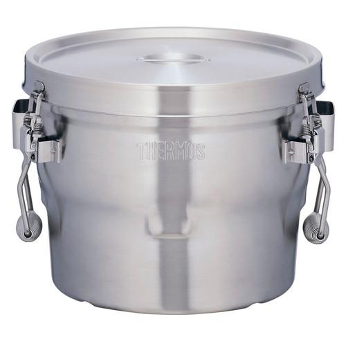 THERMOS 18-8高性能保温食缶(シャトルドラム) GBB-10CP [ 幅:350 x 奥行:345 x H255mm 10L ] [ 給食道具 ] | 給食 社食 配膳 飲食店 厨房 レストラン 業務用