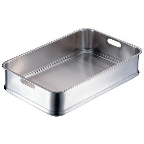 IKD18-8抗菌給食バット 24インチ 手穴明 [ 間口:610 x 奥行:380 x H130mm ] [ 料理道具 ] | 厨房 飲食店 給食 社食 レストラン 業務用