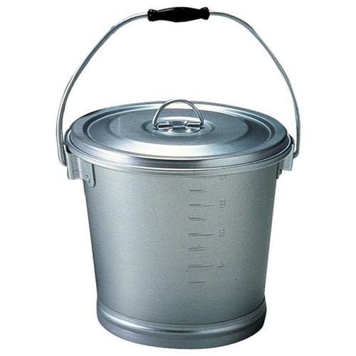 アルマイト 丸型一重食缶 213-B [ 外径:270 x H240mm 10L ] [ 給食道具 ]   給食 社食 配膳 飲食店 厨房 レストラン 業務用