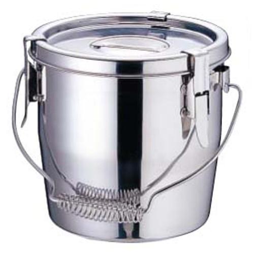 SAモリブデン フック脱着式汁食缶 21cm [ 内径:210 x 深さ:210mm 7L ] [ 給食道具 ] | 給食 社食 配膳 飲食店 厨房 レストラン 業務用