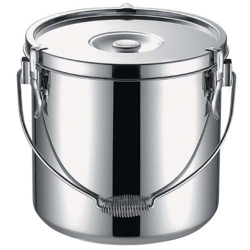 KO19-0電磁調理器対応給食缶 27cm [ 深さ:270mm底径:240mm 15L ] [ 給食道具 ]   給食 社食 配膳 飲食店 厨房 レストラン 業務用